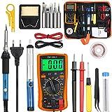Vastar Saldatore Elettrico Professionale Kit - Saldatore Kit 60w, Saldatura con Valigetta per trasporto, 16 in 1 Saldatore Temperatura Regolabile per Precisione Saldatura