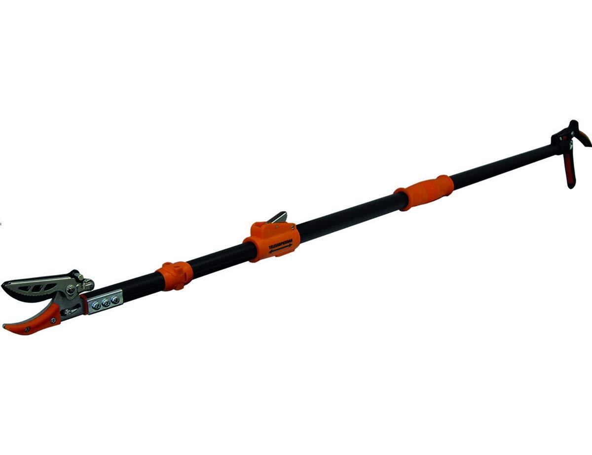 Garten Primus 01410 – Tijeras de jardín Extensibles (137,5 x 9 x 3,1 cm), Color Negro y Naranja