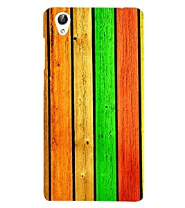 Colourful Wooden Pattern 3D Hard Polycarbonate Designer Back Case Cover for vivo Y51 :: Vivo Y51L