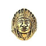 Bishilin Herren Ring Edelstahl Gold Geometrisch Inder Freundschaftsring Männer Ring Größe 57 (18.1)