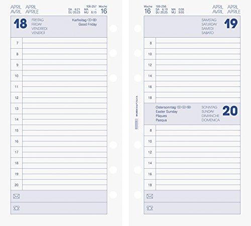 BRUNNEN Kalendarium für Timer, Ringbuchkalender Timer-Einlage Tageskalendarium, 2015, 35 (107490215)