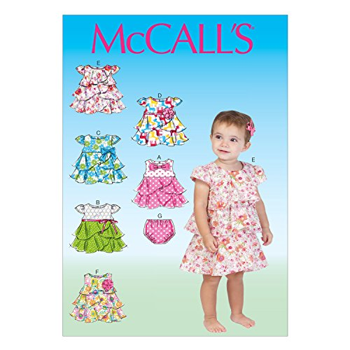McCall Pattern Company M7072 Infants' Dresses and Panties