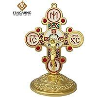 Placehap - Crucifijo de San Benito de Jesús, Cruces religiosas Doradas, decoración de Metal