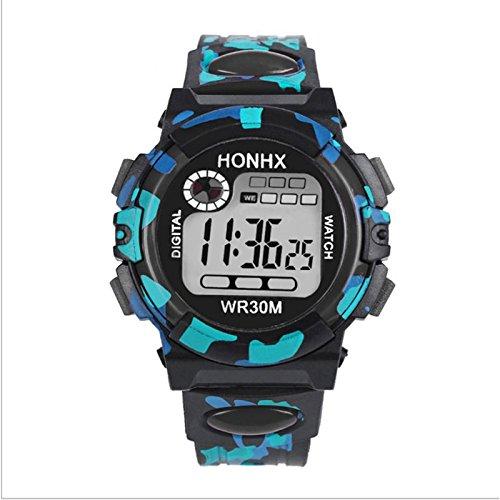 Abeillo Kinder Camo Digitale Uhren Mode LED Uhr Armbanduhr Wasserdicht Draussen -