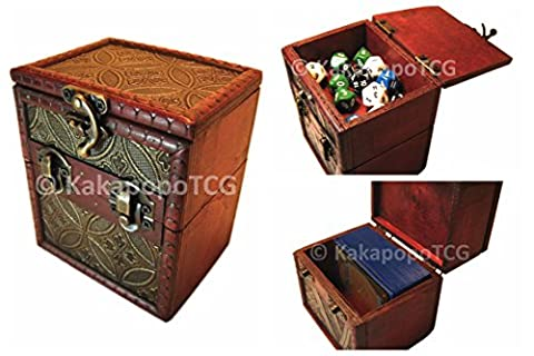 M01C Wooden Deck & Counter Box for Deck Protector storage Trading Cards TCG Ultra Pro Sleeve MTG Magic the Gathering Pokemon YGO Yugioh Vanguard Force of Will Dice Wow