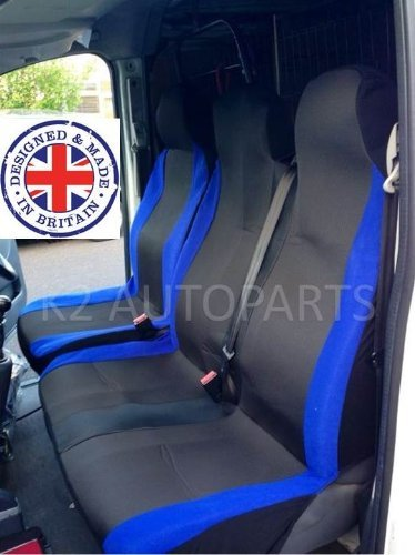 SHIPLEYMF SMF1-56262 Van Seat Covers Racing Blue 2+1