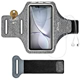 JETech Brazalete Deportivo Compatible iPhone XR/XS/X/8 Plus/7 Plus/8/7/6s/6, Galaxy S10/S9/S9+/S8/S8+,Correa Ajustable, Equipado con Soporte para Llave y Tarjeta, para Correr, Caminar, Senderismo