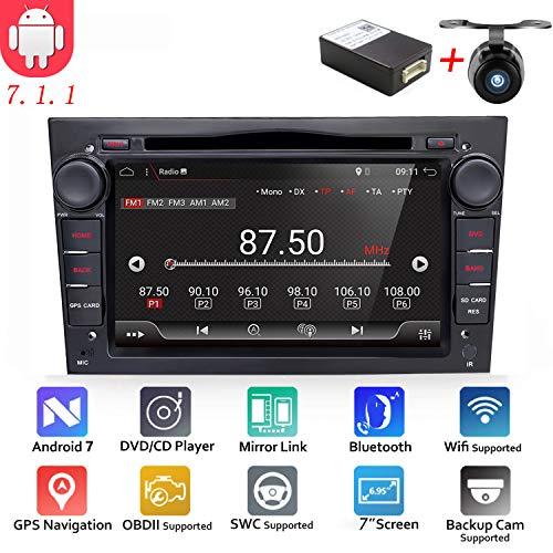 Android 6.0Quad Core GPS Auto-DVD Play 17,8cm GPS Auto-DVD-Player für Opel Astra Vectra Zafira Antara Corsa Radio Navigation Stereo Audio- und Video Farbe schwarz Kostenloser Kamera-& CANBUS (Dvd-player-auto-doppel-din)