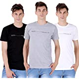 Tapasya White Black Melange Grey Round T-Shirt Pack Of 3