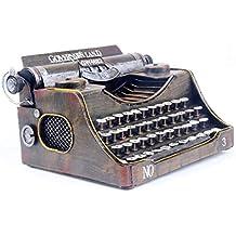 Xinyexinwang Modelo de máquina de Escribir Vintage, Objetos Antiguos de Hierro nostálgico Retro, Modelo