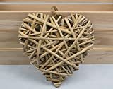 SALE - Large Bamboo Hanging Heart for Home Decor Crafts - 20cm