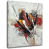 Raybre Art® 50 * 60 CM 100% Pintada a mano Lienzo al óleo Cuadros Abstractos Modernos Grandes Pintura Pared para Decoración Hogar Sala Cocina Dormitorio, Sin Marco
