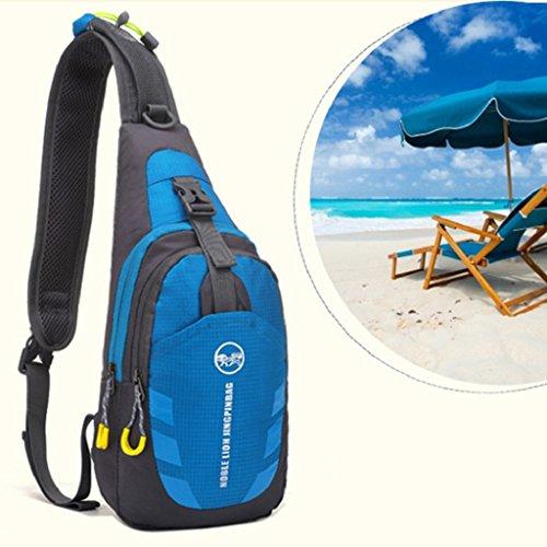 sukisuki Outdoor Travel Trekking Brust Tasche Casual Wandern Camping Fahrrad Sling Bag Tasche Blau