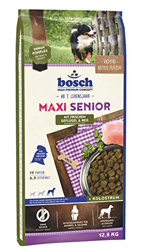 bosch HPC Maxi Senior mit frischem Geflügel & Reis | Hundetrockenfutter für ältere Hunde großer Rassen (ab 25 kg), 1 x 12.5 kg