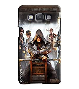 Omnam Two Pigs Enjoying Printed Designer Back Cover Case For Samsung Galaxy A7