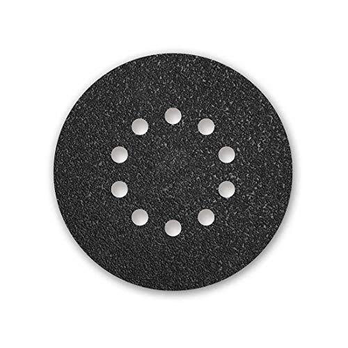 MENZER Black Klett-Schleifscheiben, 225 mm, 10-Loch, Korn 16, f. Trockenbauschleifer, Siliciumcarbid (10 Stk.)