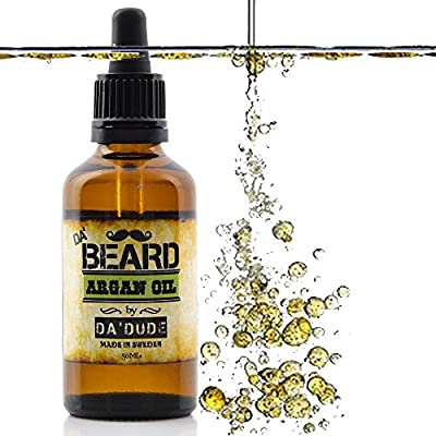 Da'Dude Da'Beard Oil for Men in Premium Gift Box | Best Care 100% Natural Prime Oils for Dry or Sensitive Skin Leave in Conditioner Beard Growth & Grooming | Argan Jojoba 50ml