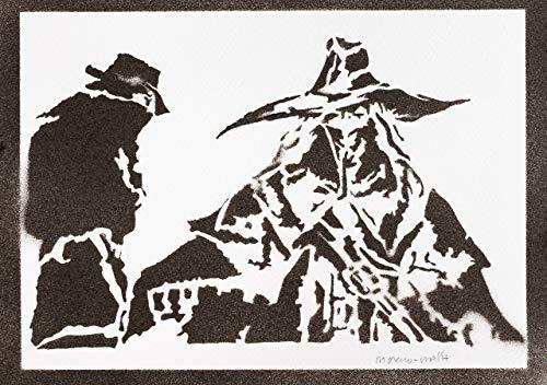 The Old Hunters Bloodborne Poster Plakat Handmade Graffiti Street Art - (Nes Figur Kostüm)