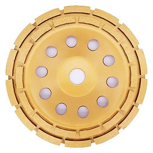 APLUS Diamant Schleiftopf 180mm x 22,2mm Topfschleifer Topfscheibe doppelreihig für Beton Stein Mauerwerk