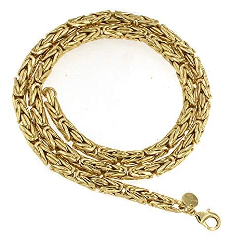 Königs-Kette rund Gold Doublé 6 mm 65 cm Halskette Gold-Kette Herren-Kette Damen Geschenk Schmuck ab Fabrik Italien tendenze BZGYRds6-65v