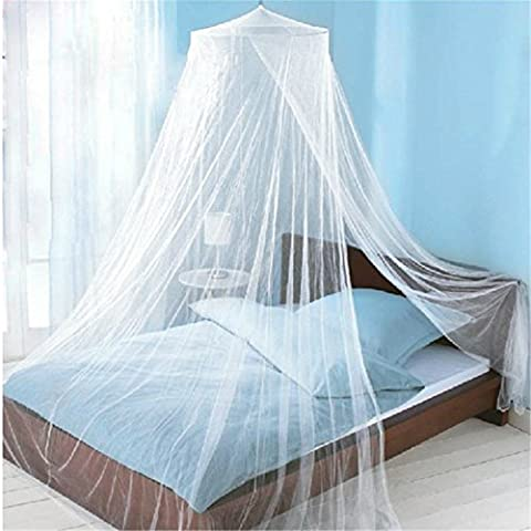 Mosquito Net Bed Canopy Circular Screen Netting Curtains Insect Protection Repellent White