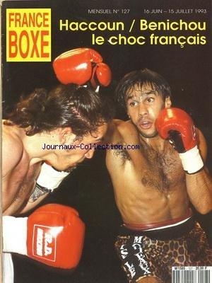 FRANCE BOXE [No 127] du 16/06/1993 par COLLECTIF
