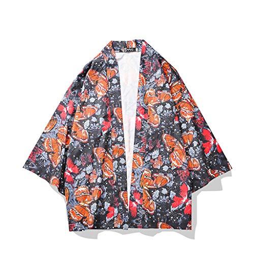 Knowin Mode Liebhaber Individualität Print Top Bluse Kimono Hot Spring Kleidung Service Bademantel aus Heißen Quellen bademäntel Oversize Top Blusen T-Shirt