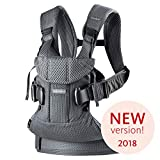 BabyBjörn Mochila Porta Bebé One Air, 3D Mesh, Antracita, 2018 Edition
