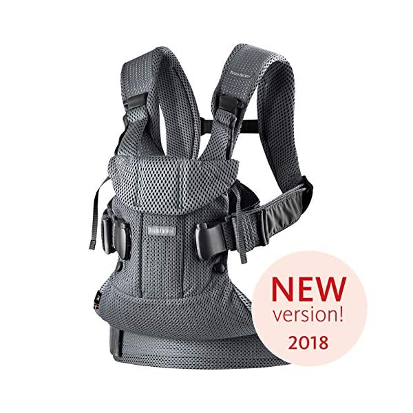 BABYBJÖRN Baby Carrier One Air, 3D Mesh, Anthracite, 2018 Edition Baby Bjorn The latest version (2018) with soft and breathable mesh that dries quickly Ergonomic baby carrier with excellent support 4 carrying positions: facing in (two height positions), facing out or on your back 1