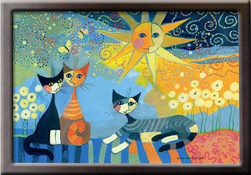 WENKO 4926023500 Knie-Tablett Rosina Wachtmeister, MDF, 40 x 9 x 30 cm, Mehrfarbig -