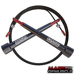 Master of Muscle Speed Rope Springseil – High Speed Seil, Perfekt Für Double Unders – Optimal Für Crossfit – WODs – Boxtraining – MMA und Fitness Besser als Geld-Zurück-Garantie