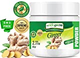 myBioPure ORGANISCHES GINGERPULVER. 100% Pure Natural RAW Glutenfrei, Roh, Non-GMO. SUPER Essen. Für Gesundheit, Backen, Schönheit, Kochen und Nahrungsergänzung. 2.11 oz - 60 gr.
