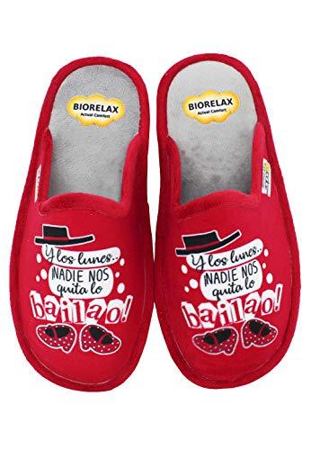 BioRelax Zapatillas de casa Y los Lunes ¡Nadie Nos Quita lo bailao! (39 EU)