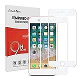 Lanhiem [2 pièces] Verre Trempé iPhone 7 Plus / 8 Plus, [Couverture Complète] [Garantie à Vie] Film Protection écran, Ultra Résistant Dureté 9H,Compatible avec Les Coques,Blanc