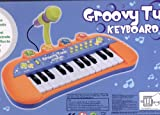 Kinderpiano-Keyboard-fr-Kinder-Groovy-Tune-mit-Mikro