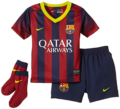 Nike Kinder Anzug FC Barcelona Infants Home Kit Midnight Navy/Storm Red/Vibrant Yellow, 12-18