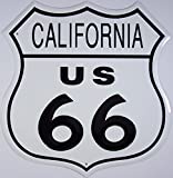 Unbekannt Route 66 California Cartel de Chapa Placa metal plano 28x28cm VS360