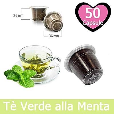 50 Capsules Thé Vert à la Menthe Compatibles Nespresso - Café Kickkick