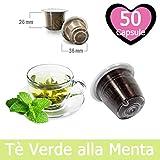 50 Capsule Tè Verde Alla Menta Compatibili Nespresso