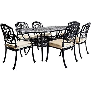 729b770e015d Charles Bentley Garden Premium Furniture Cast Aluminium 7 Piece Outdoor  Dining Set