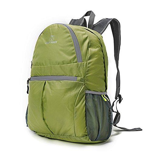 b9b7c91f05 TBBDoppio zaino borse tracolla pieghevole e impermeabile esterno portatile  pacchetto di viaggio,grigio 25L green 25L