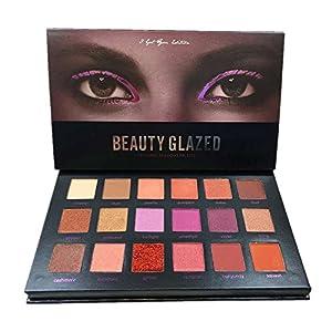 Weicici 18 Couleurs Palette de Ombre a Paupiere Eyeshadow Shimmer Fard a Paupiere Mat Brillant Maquillage pour L'oeil Cosmetique Beaute