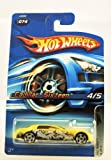 Hot Wheels - 2006 - Tag Rides - 4/5 Cars - Cadillac Sixteen - Yellow Custom Paint - #074 - Limited Edition - Collectible by Hot Wheels