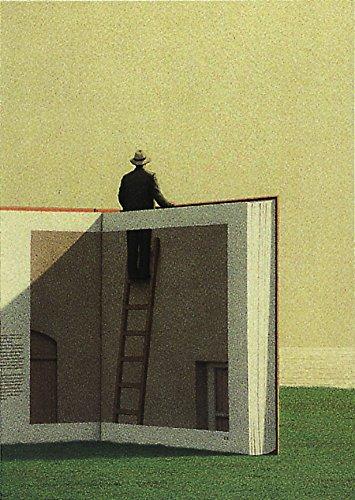 Postkarte A6 • 2813 ''Mann auf einer Leiter'' von Inkognito • Künstler: Quint Buchholz • Fantastik