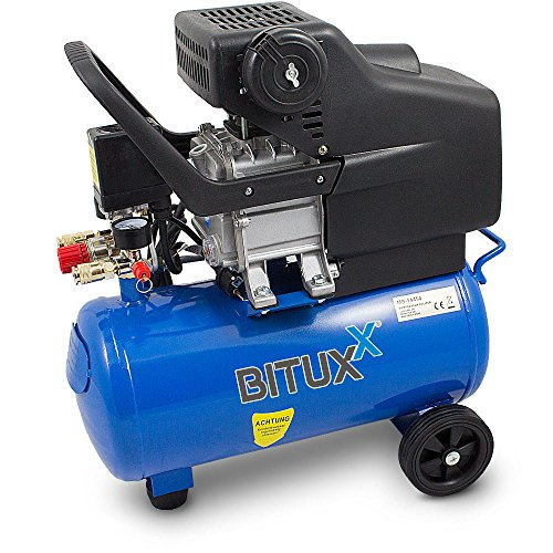BITUXX® Kompressor Druckluftkompressor Druckluftverdichter 24Liter 2PS Druck bis 8 Bar