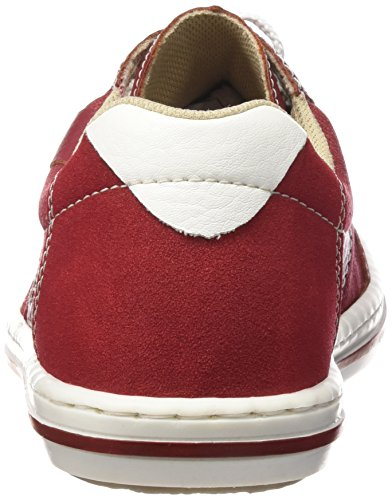 Rieker 19013 Sneakers-men, Baskets Basses homme Rouge - Rot (fire/mohn/rosso/weiss / 33)