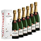 Taittinger Champagner Set 6x 0,75l Brut Réserve jeweils in Geschenkverpackung - Champagnerset