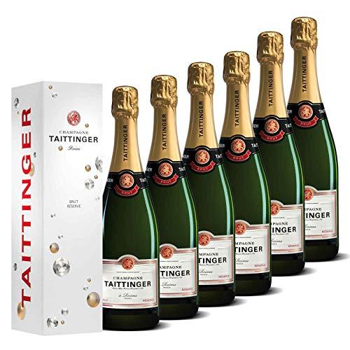 Taittinger Champagner Set 6x 0,75l Brut Réserve jeweils in Geschenkverpackung - Champagnerset (Champagner-set Von 6)