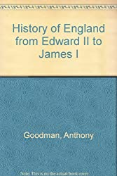 History of England from Edward II to James I