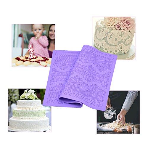 Blumenmuster, CkeyiN DIY Fondant Kuchen Dekoration Formwerkzeug Food Grade Silikon Auflage
